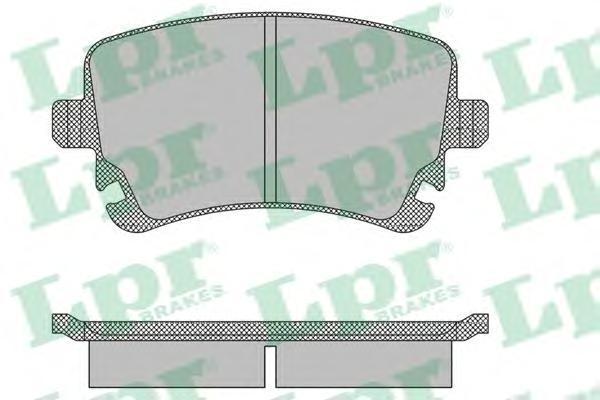 Колодки тормозные задние LPR / AP 05P139805P1398