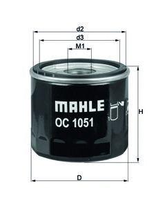 Фильтр масляный Mahle/Knecht OC1051OC1051