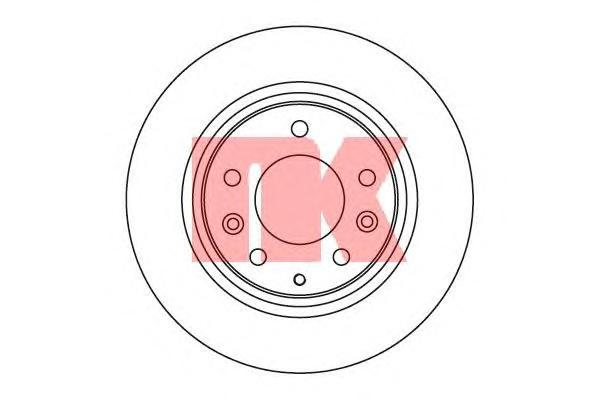 Диск тормозной NK 203246 комплект 2 шт203246