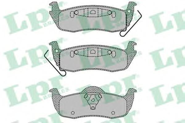 Колодки тормозные задние LPR / AP 05P140505P1405