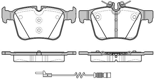 Колодки тормозные дисковые задние Remsa 151620151620