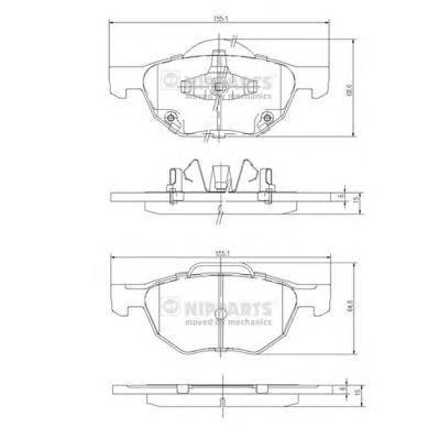 Колодки тормозные Nipparts J3604064J3604064