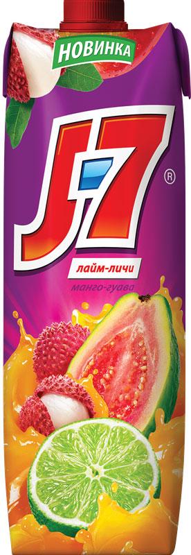 J-7 Манго-Гуава-Лайм-Личи напиток сокосодержащий с мякотью, 0,97 л шоколеди конфеты ассорти с начинкой ореховый крем 340 г орхидеи