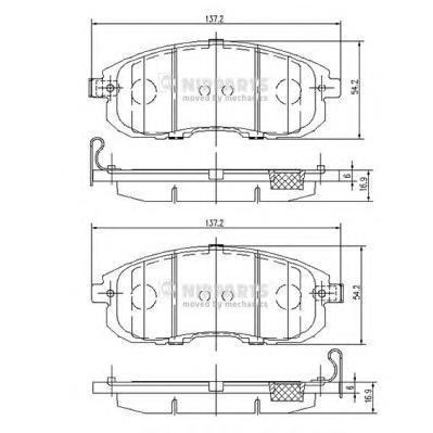 Колодки тормозные передние Nipparts N3601099N3601099