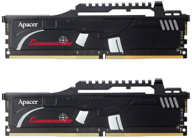 Apacer Commando DDR4 DIMM 2х8Gb 2400 МГц модуль оперативной памяти (EK.16GAT.KEAK2) pc4 24000 ddr4 dimm apacer