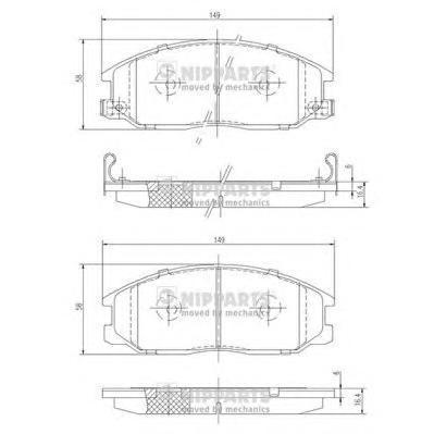 Колодки тормозные передние Nipparts J3600526J3600526