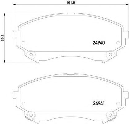 Колодки тормозные передние Textar 24940012494001