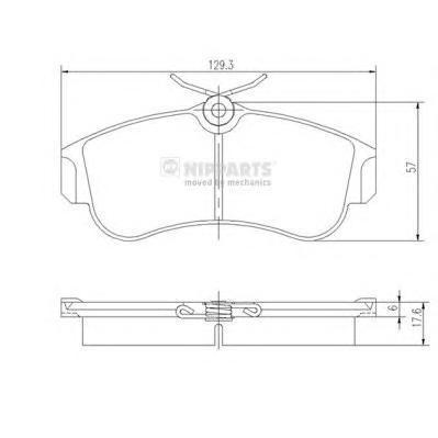 Колодки тормозные передние Nipparts J3601051J3601051