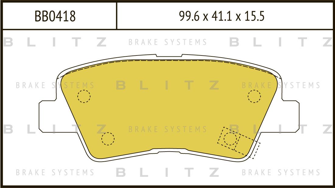 Колодки тормозные дисковые BLITZ автотовары BB0418BB0418