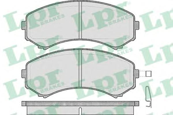 Колодки тормозные дисковые передние LPR / AP 05P56905P569