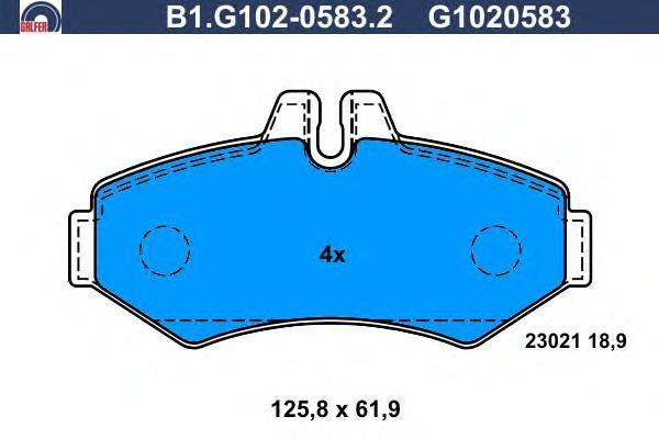 Колодки тормозные дисковые Galfer B1G10205832B1G10205832