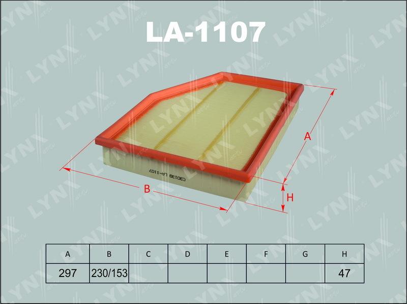 Фильтр воздушный Lynx LA1107LA1107
