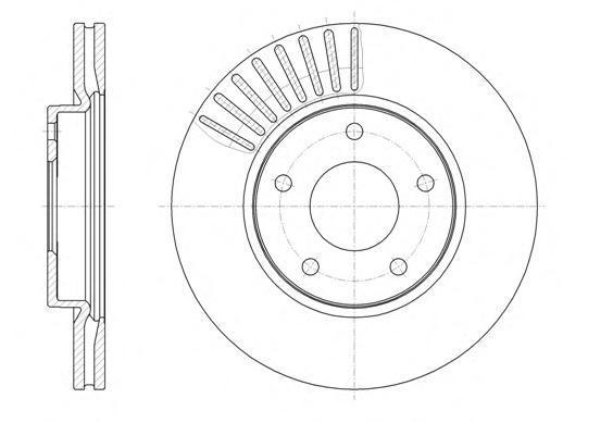 Диск тормозной передний вентилируемый Remsa 61466106146610