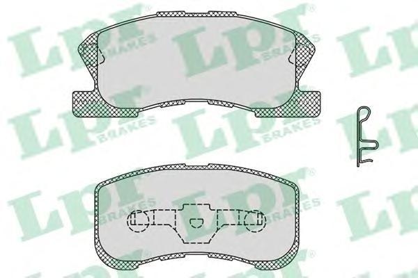 Колодки тормозные передние LPR / AP 05P104205P1042