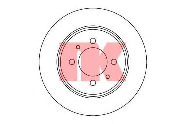 Диск тормозной NK 202263 комплект 2 шт202263