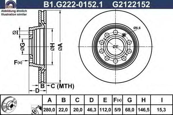 Диск тормозной Galfer B1G22201521B1G22201521