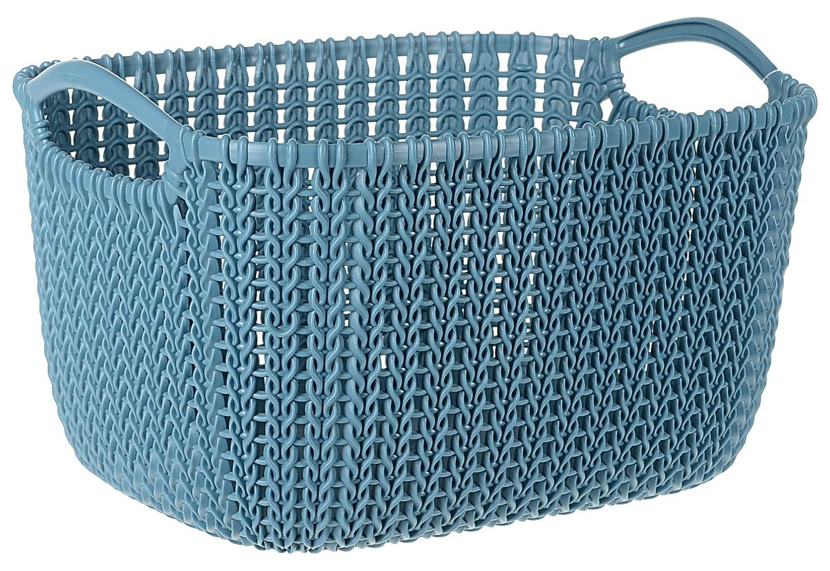 Корзина универсальная Curver Knit, цвет: морская волна, 8 л03674-X65-00Универсальная корзина Curver Knit изготовлена извысококачественного пластика и оформлена декоративной перфорацией под плетение. Для дополнительного удобства корзина имеет удобные ручки.Такая корзина непременно пригодится в быту, в ней можно хранить кухонные принадлежности, специи, аксессуары для ванной и другие бытовые предметы.