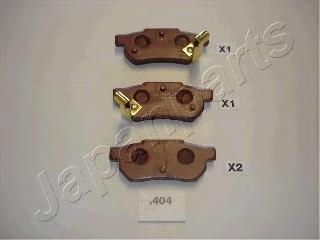 Колодки тормозные дисковые Japanparts PP404AFPP404AF