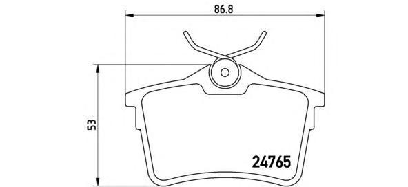Колодки тормозные задние Brembo P61084P61084