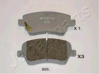 Колодки тормозные дисковые Japanparts PA800AFPA800AF