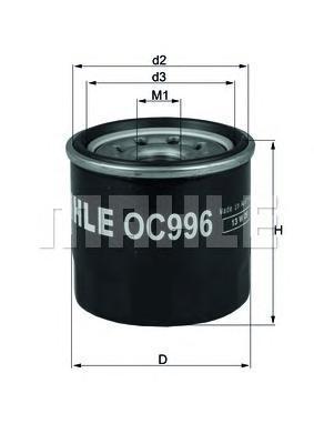 Фильтр масляный Mahle/Knecht OC996OC996