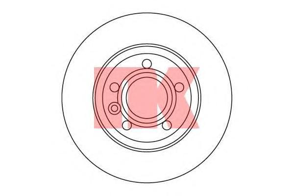 Диск тормозной NK 202546 комплект 2 шт202546