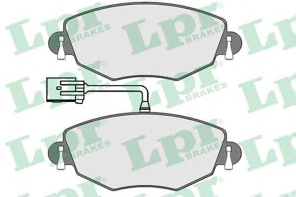 Колодки тормозные передниеLPR / AP 05P130205P1302