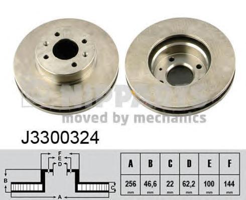 Диск тормозной Nipparts J3300324 комплект 2 штJ3300324