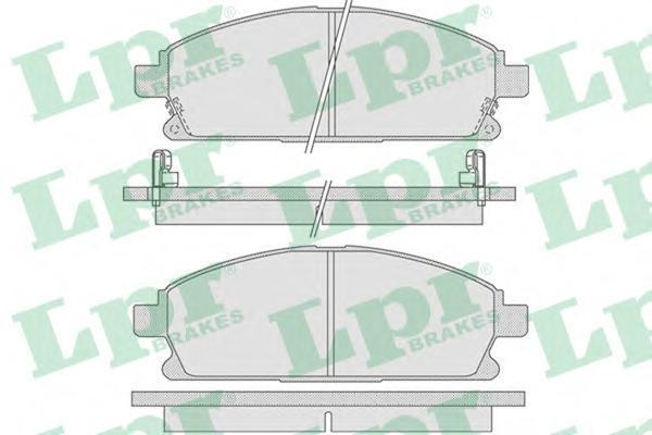 Колодки тормозные дисковые LPR / AP 05P84605P846