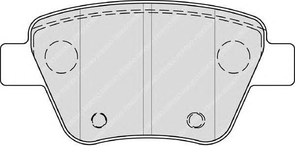 Колодки тормозные дисковые Premier Ferodo FDB4316FDB4316