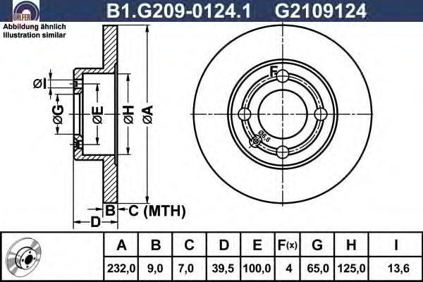 Диск тормозной Galfer B1G20901241 комплект 2 штB1G20901241