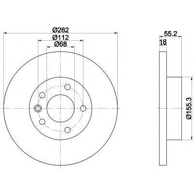 Диск тормозной Textar 92083703 комплект 2 шт92083703