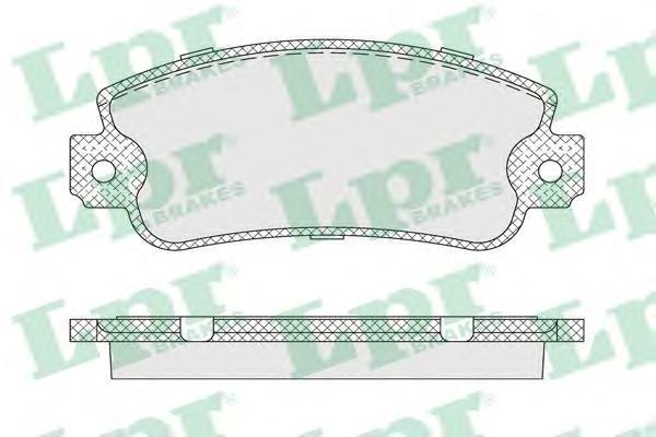 Колодки тормозные передний LPR / AP 05P00705P007
