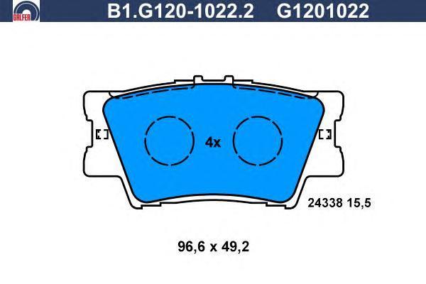 Колодки тормозные Galfer B1G12010222B1G12010222