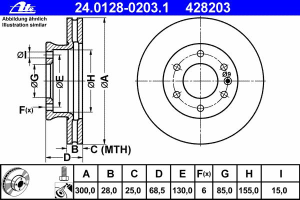 Диск тормозной Ate 24012802031 комплект 2 шт24012802031