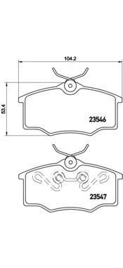 Колодки тормозные передние Brembo P59034P59034