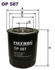 Фильтр масляный Filtron OP587OP587