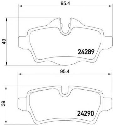 Колодки тормозные дисковые, 4 шт Textar 24289012428901