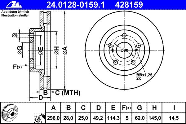 Диск тормозной Ate 24012801591 комплект 2 шт24012801591