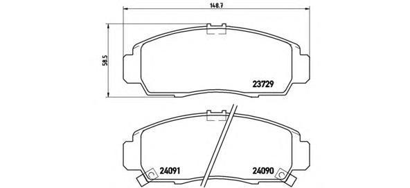 Колодки тормозные передние Brembo P28034P28034