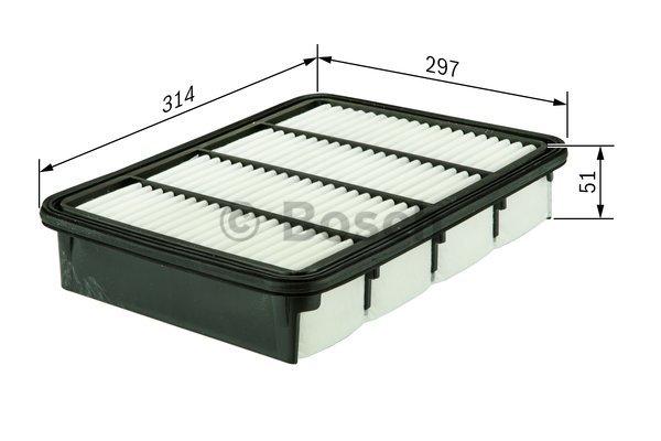 Фильтр воздушный Bosch F026400296F026400296