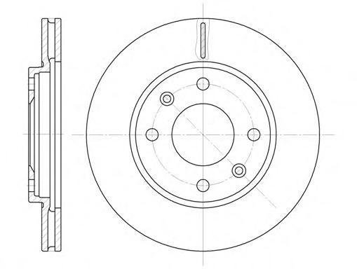 Диск тормозной передний вентилируемый 4 отв Road House 613110 комплект 2 шт613110