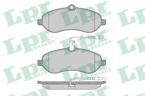 Колодки тормозные передние LPR / AP 05P134805P1348