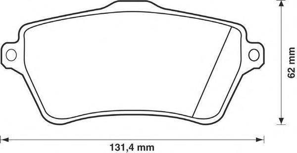 Колодки тормозные дисковые 4 шт, передние Jurid 573102J573102J