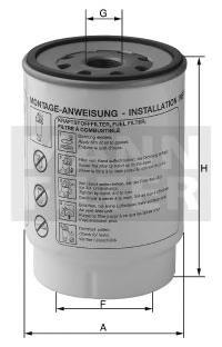 Топливный фильтрMann-Filter PL2711PL2711