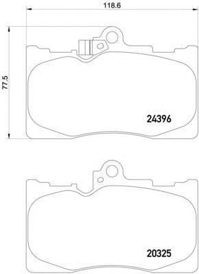 Колодки тормозные дисковые, 4 шт Textar 20325012032501