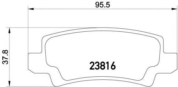 Колодки тормозные дисковые, 4 шт Textar 23816012381601