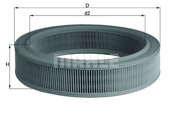 Фильтр воздушный Mahle/Knecht LX568LX568