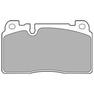 Колодки тормозные передние DELPHI LP2491LP2491
