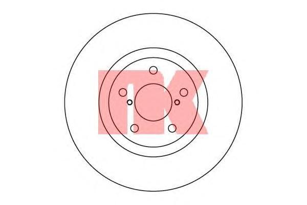Диск тормозной NK 204406 комплект 2 шт204406